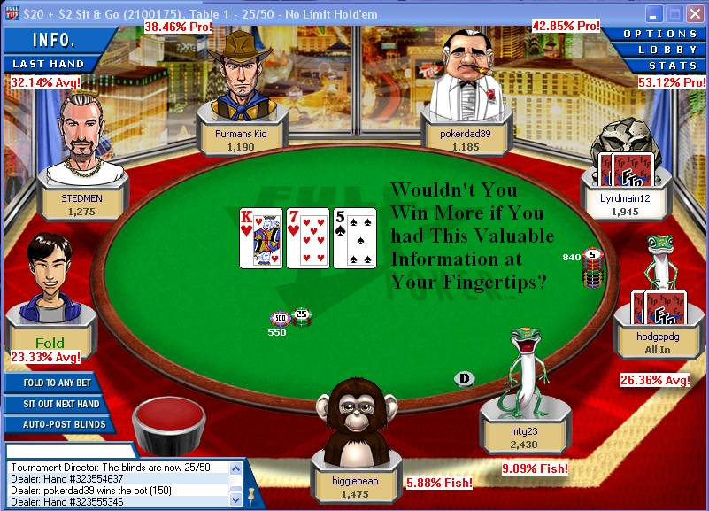 fulltilt poker table
